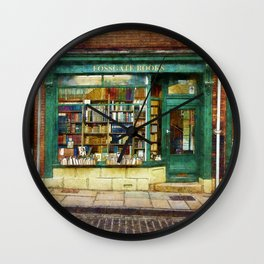 Fossgate Books Wall Clock