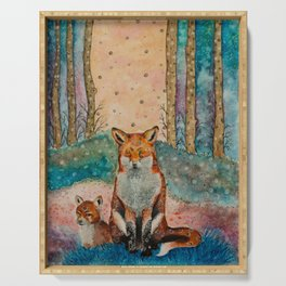 Daydreaming Fox Serving Tray