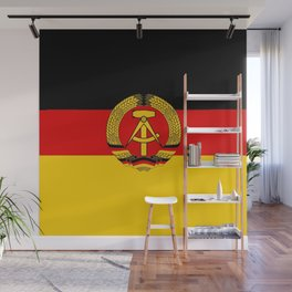flag of RDA Or east Germany Wall Mural