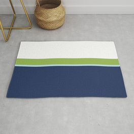 Minimal Abstract Blue White Green 02 Rug