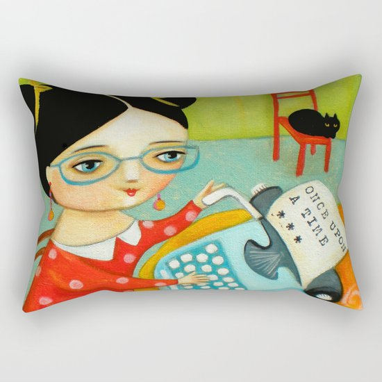 The writer of stories Rectangular Pillow