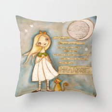 I See the Moon - Poetry print Throw Pillow