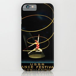1936 Vintage Soviet Union Era Intourist Poster USSR Dance Festival Moscow Leningrad Ballet Poster iPhone Case