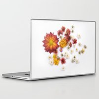 leah flores Laptop & iPad Skins featuring FLORES by Miles of Light