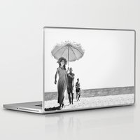 pablo picasso Laptop & iPad Skins featuring PABLO PICASSO AT BEACH by VAGABOND