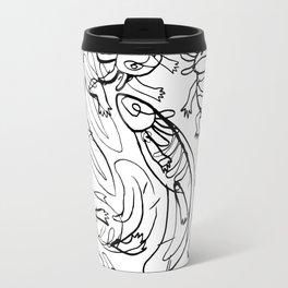 Scribbled Axolotls Travel Mug