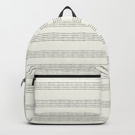 Minimal Abstract Lines On Neutral Watercolor Backpack