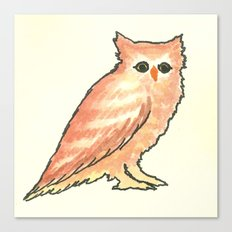 Fade in Owl Canvas Print
