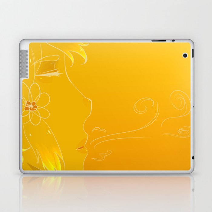 Golden breath Laptop & iPad Skin