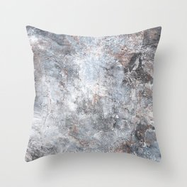 Burned Copper C Throw Pillow