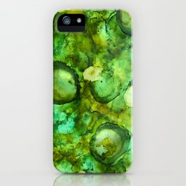 Abstract Green Blobs iPhone Case