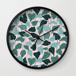 Leaves of lilies Wall Clock