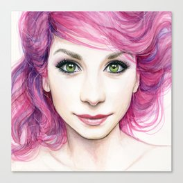 Pink Hair Girl Canvas Print