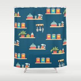 Kitchen Shelfs Shower Curtain