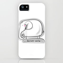 Being Calm #happylala iPhone Case