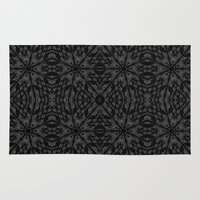 gray pattern Area & Throw Rugs featuring Slate Gray Black Pattern by 2sweet4words Designs