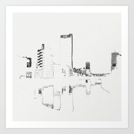 BROKEN CITY Art Print