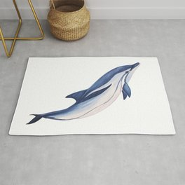 Striped baby dolphin Rug