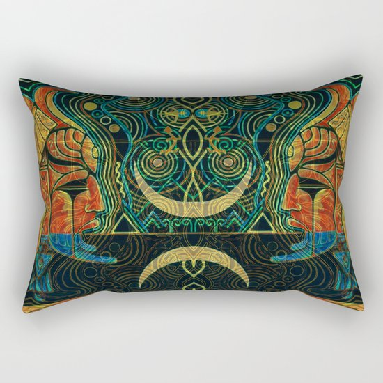 They Who Drink Chaos Rectangular Pillow