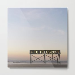 TO TELESCOPE Metal Print