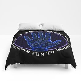 Me & Paranormal You - James Roper Design - Palmistry (white lettering) Comforters