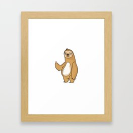 Not to brag but i totally got out of bed today. Framed Art Print