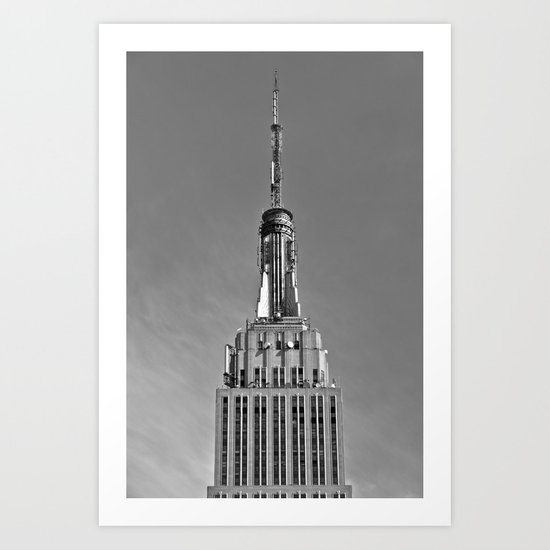 Tip Of The Empire State Building Art Print