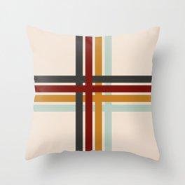 Colored Retro Cross Throw Pillow