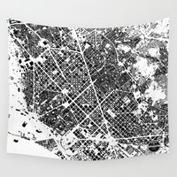 barcelona Wall Tapestries featuring Barcelona by Maps Factory
