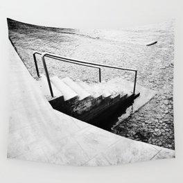 Mediterranean Sea, Photo, Film, Black and White, Analog Wall Tapestry