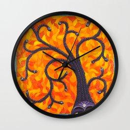 Medusa and the Tree of Life Wall Clock