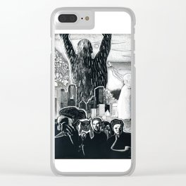 Humanity Rising Clear iPhone Case