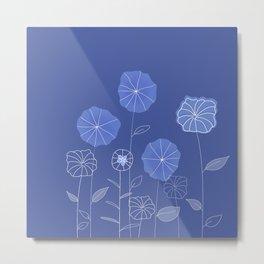 soft blue flowers Metal Print