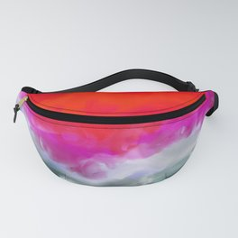 Abstract in Red, White and Purple Fanny Pack