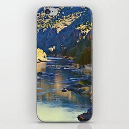 Rio Grande at the John Dunn Bridge on a Winters Day by CheyAnne Sexton iPhone Skin