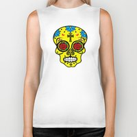calavera Biker Tanks featuring Calavera by SuperEdu