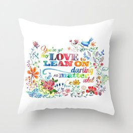 LOVE to Lean On Throw Pillow