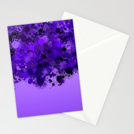 paint splatter on gradient pattern pp Stationery Cards