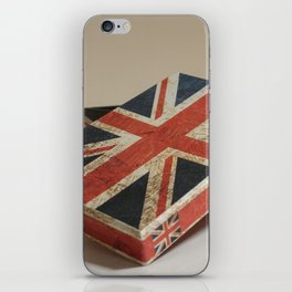 Cardboard box consumed with the British flag iPhone Skin