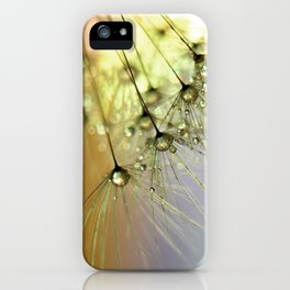 Dandelion & Droplets iPhone Case