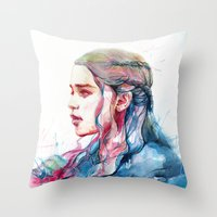 alicexz Throw Pillows featuring Dragonqueen by Alice X. Zhang