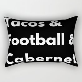 Tacos Football Cabernet Rectangular Pillow