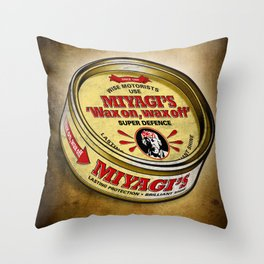 Miyagi's Super Wax Throw Pillow