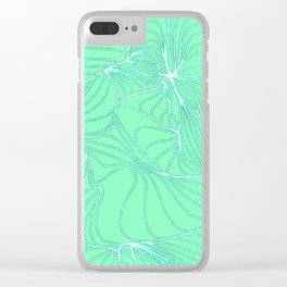 Curves in Mint & Turquoise Clear iPhone Case