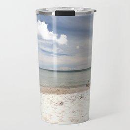 Dream beach Sea Ocean Summer Maritime Navy clouds Travel Mug