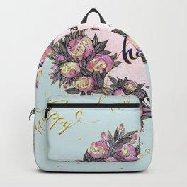 Happy flowers bridal pattern Backpack
