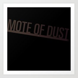 Mote of Dust Sunbeam Logo Art Print