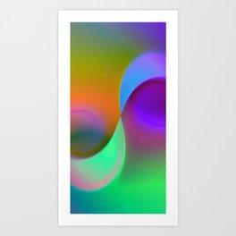 green lines -1- colorvariation Art Print