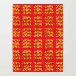 flag of New Brunswick – the-dragon - Brunswicker,Néo-Brunswickois,moncton,fredericton,acadia Poster