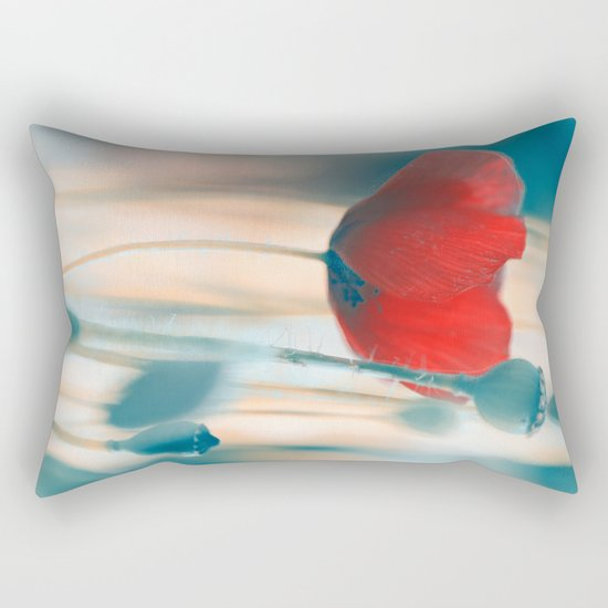 Poppies(radiance). Rectangular Pillow